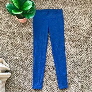 Medium athlete blue full length leggings